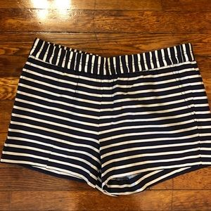 JCrew Navy Black White Stripe Pocket Shorts 10